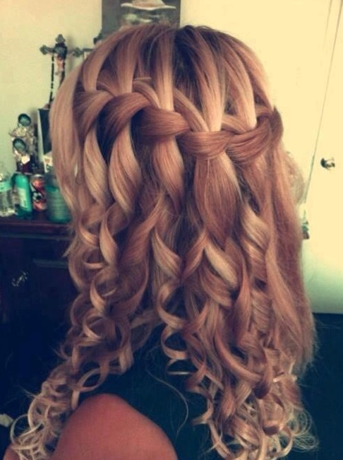 Waterfall-Braid-For-Long-Curly-Hair