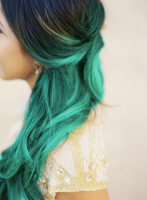 black-to-teal-ombre-hair-color